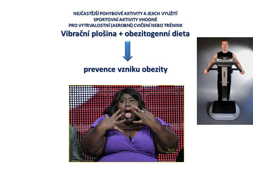 Vibrační plošina + obezitogenní dieta prevence vzniku obezity