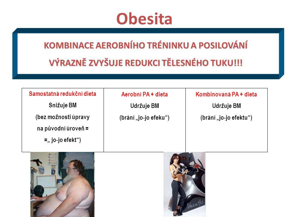 Obesita KOMBINACE AEROBNÍHO TRÉNINKU A POSILOVÁNÍ