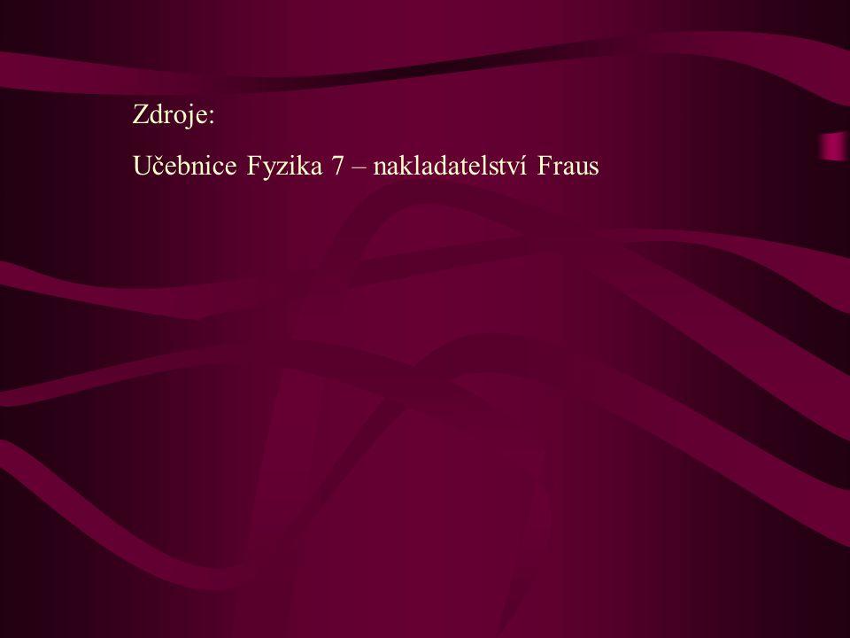 Zdroje: Učebnice Fyzika 7 – nakladatelství Fraus