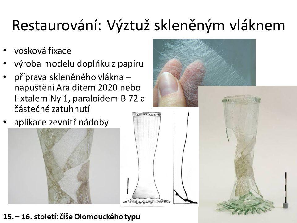 Restaurování: Výztuž skleněným vláknem