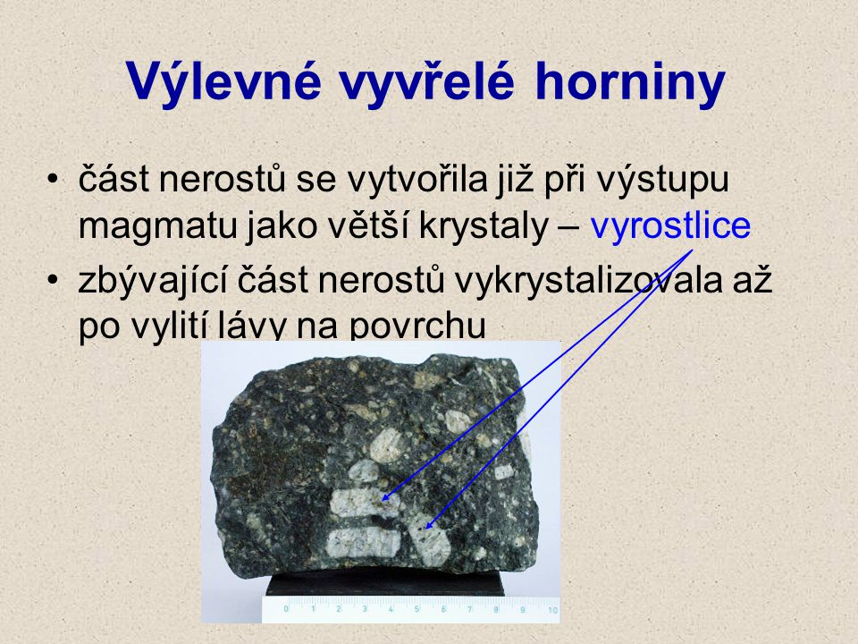 Výlevné vyvřelé horniny