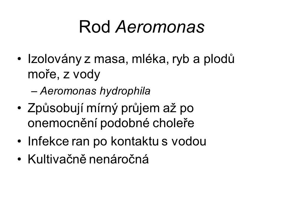 Rod Aeromonas Izolovány z masa, mléka, ryb a plodů moře, z vody