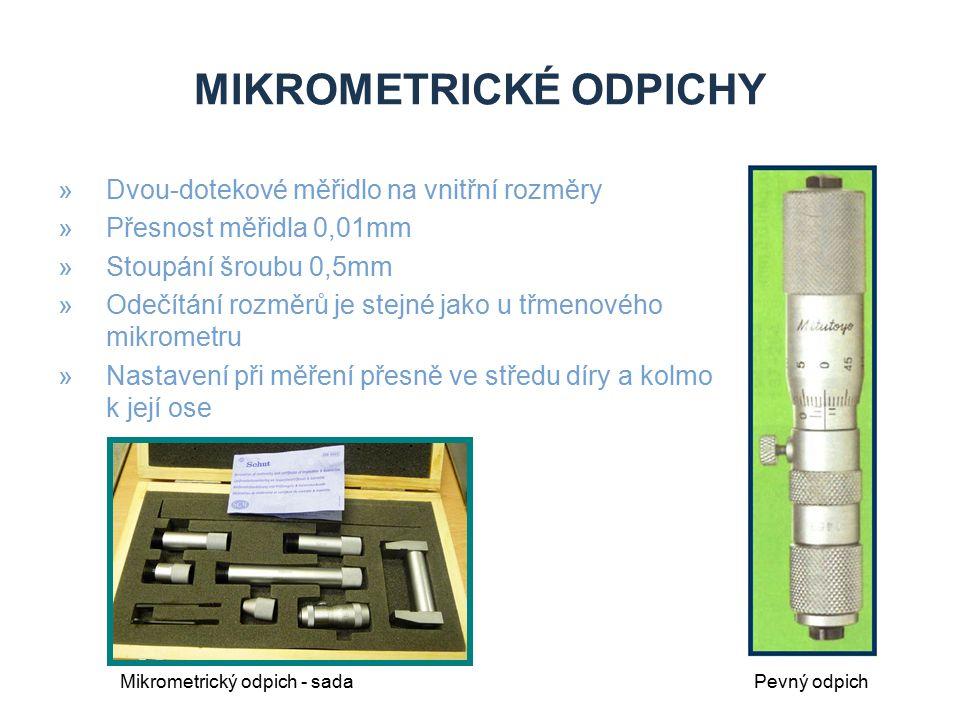 Mikrometrické odpichy