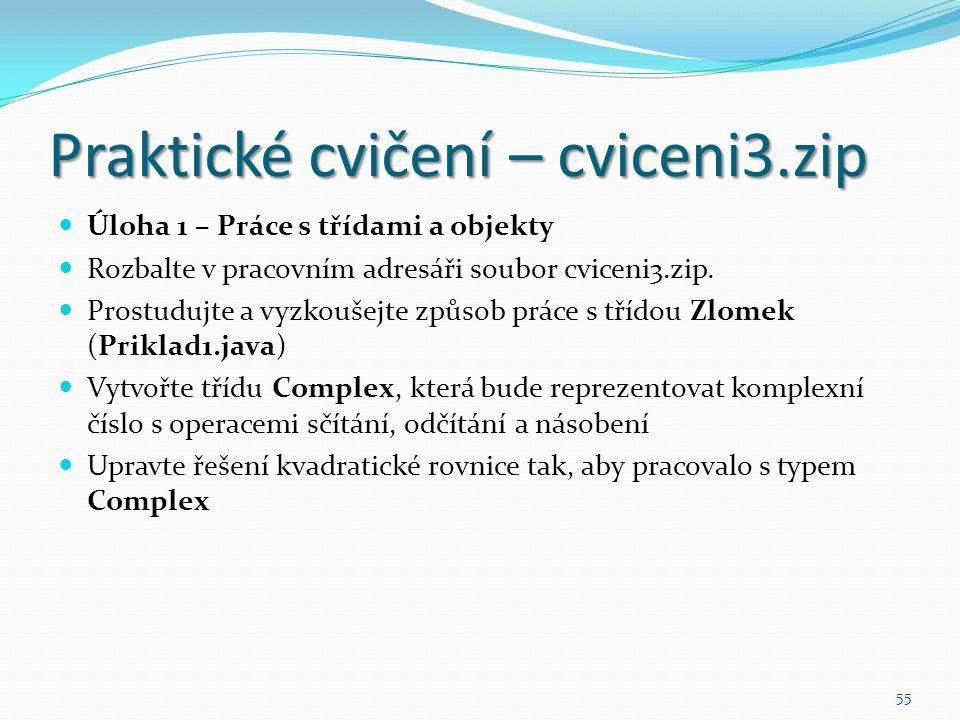 Praktické cvičení – cviceni3.zip