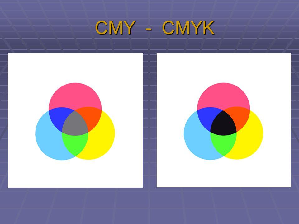 CMY - CMYK