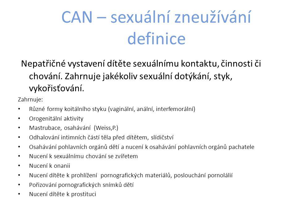 CAN – sexuální zneužívání definice