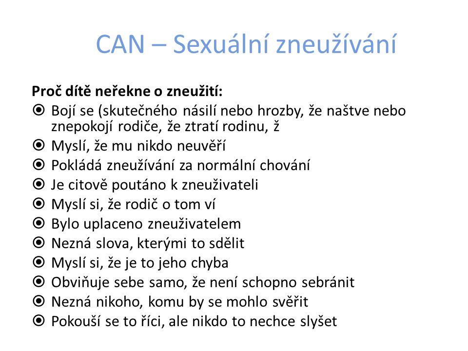 CAN – Sexuální zneužívání