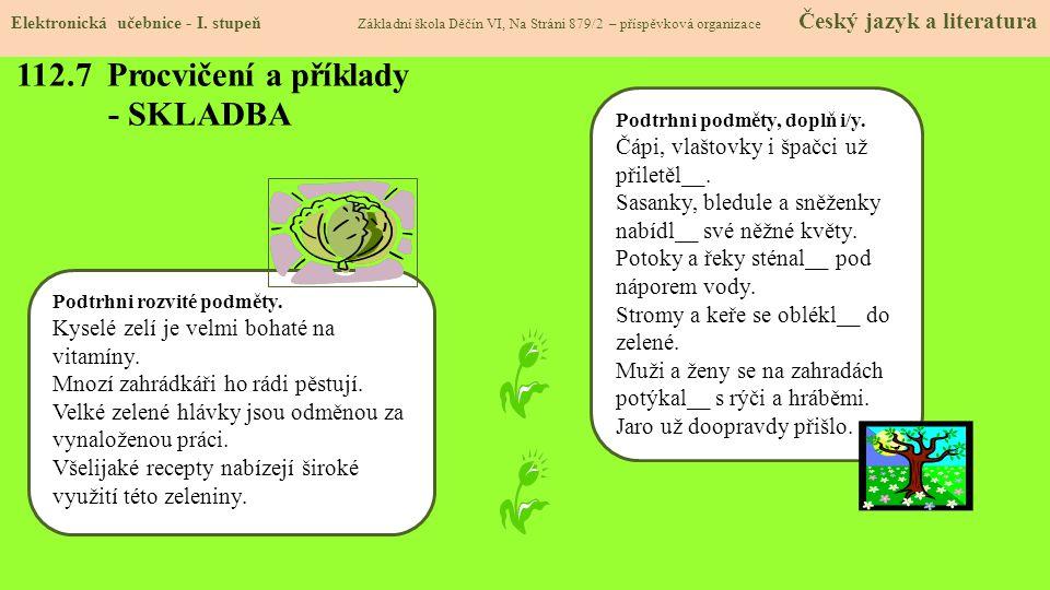 112.7 Procvičení a příklady - SKLADBA