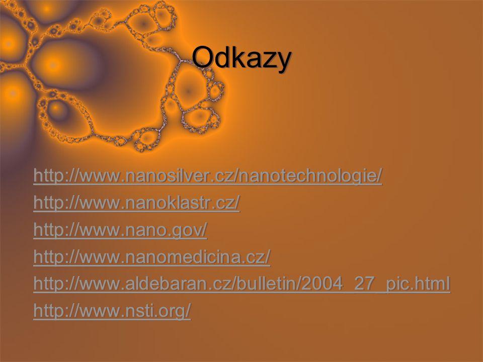 Odkazy http://www.nanosilver.cz/nanotechnologie/