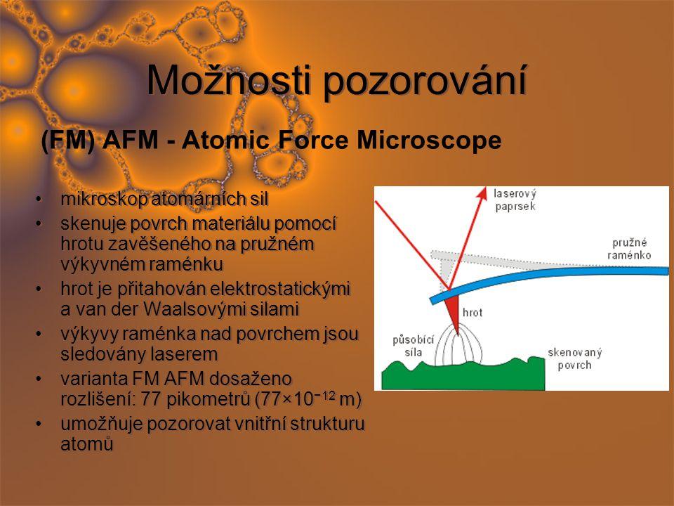 Možnosti pozorování (FM) AFM - Atomic Force Microscope