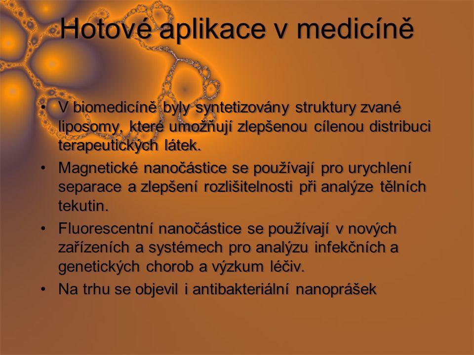 Hotové aplikace v medicíně