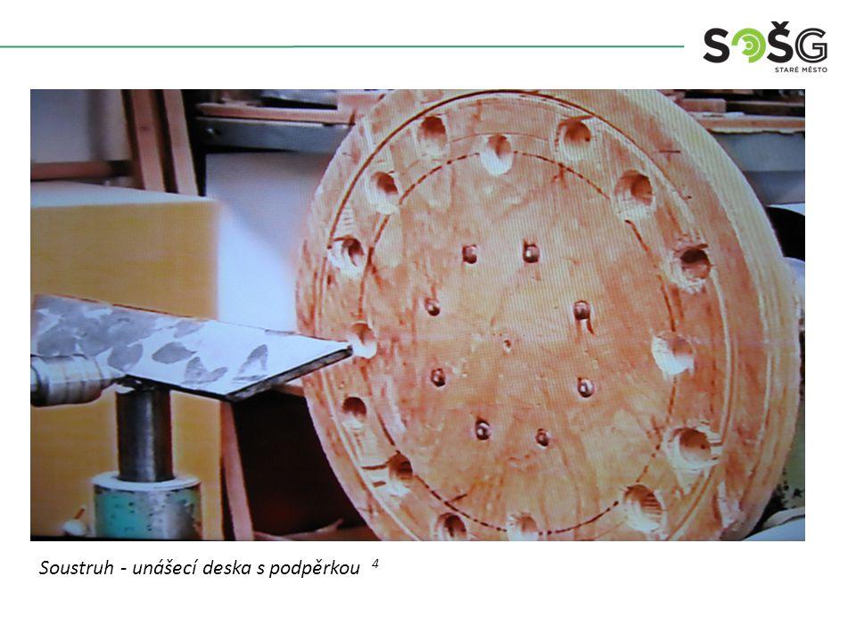 Soustruh - unášecí deska s podpěrkou 4