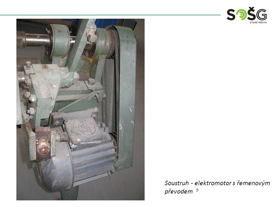 Soustruh - elektromotor s řemenovým převodem 5