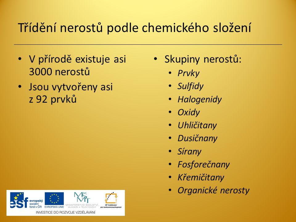 Třídění nerostů podle chemického složení