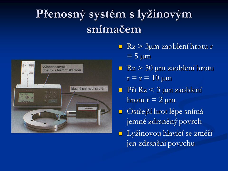 Přenosný systém s lyžinovým snímačem
