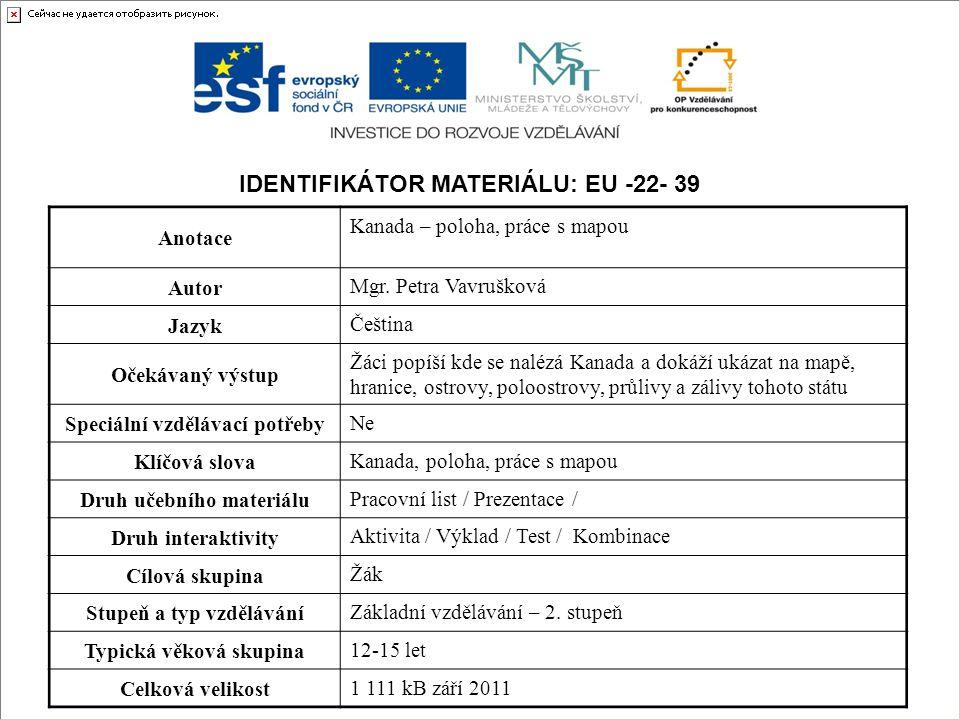 Identifikátor materiálu: EU -22- 39