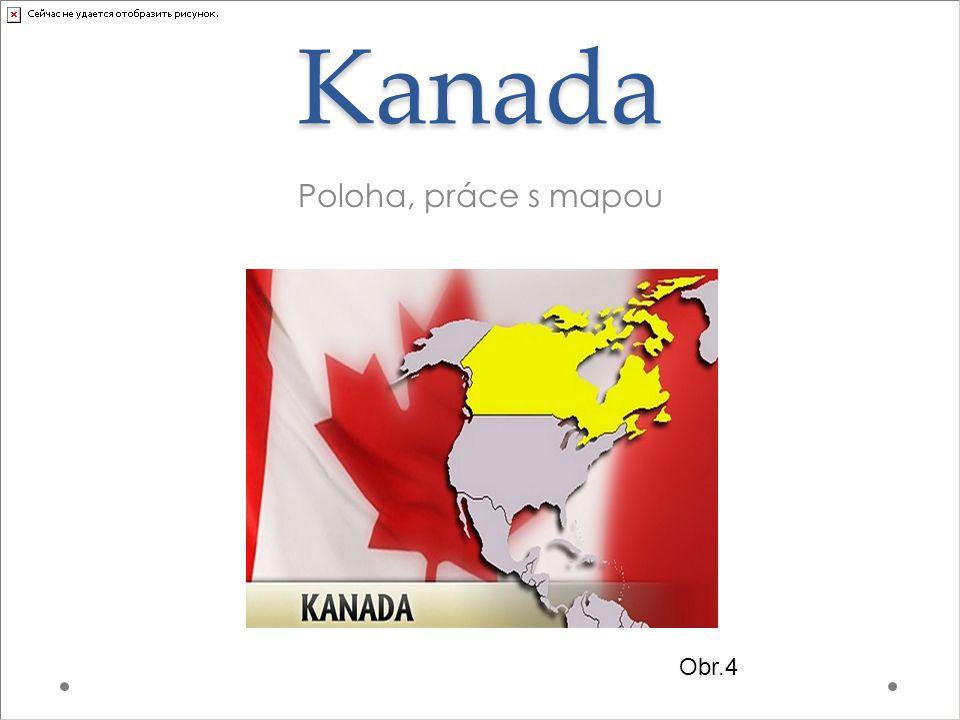 Kanada Poloha, práce s mapou Obr.4