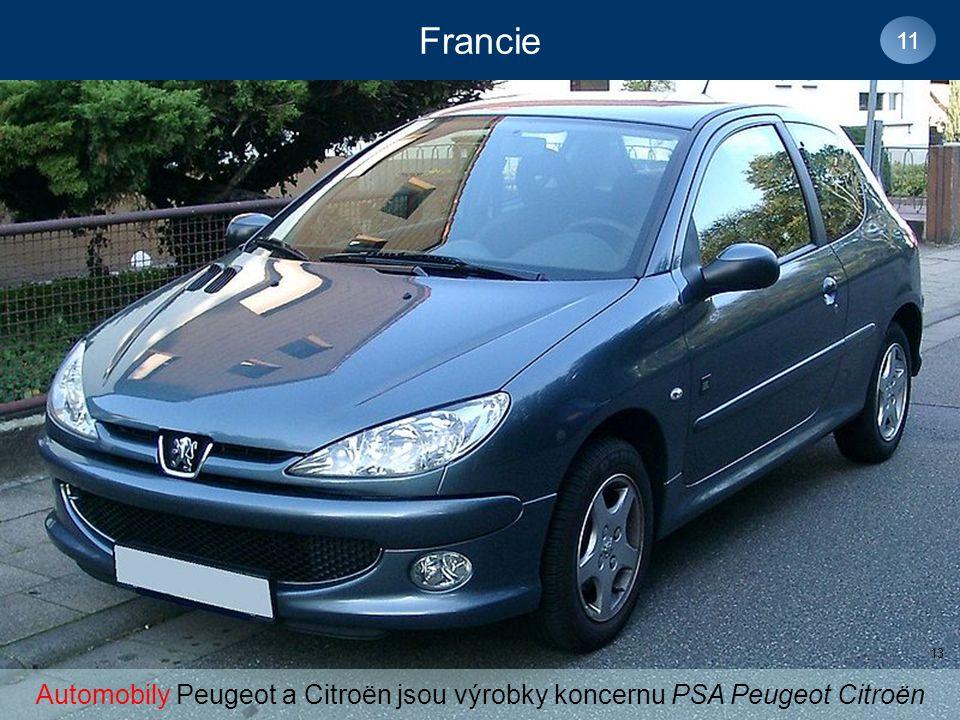 Automobily Peugeot a Citroën jsou výrobky koncernu PSA Peugeot Citroën
