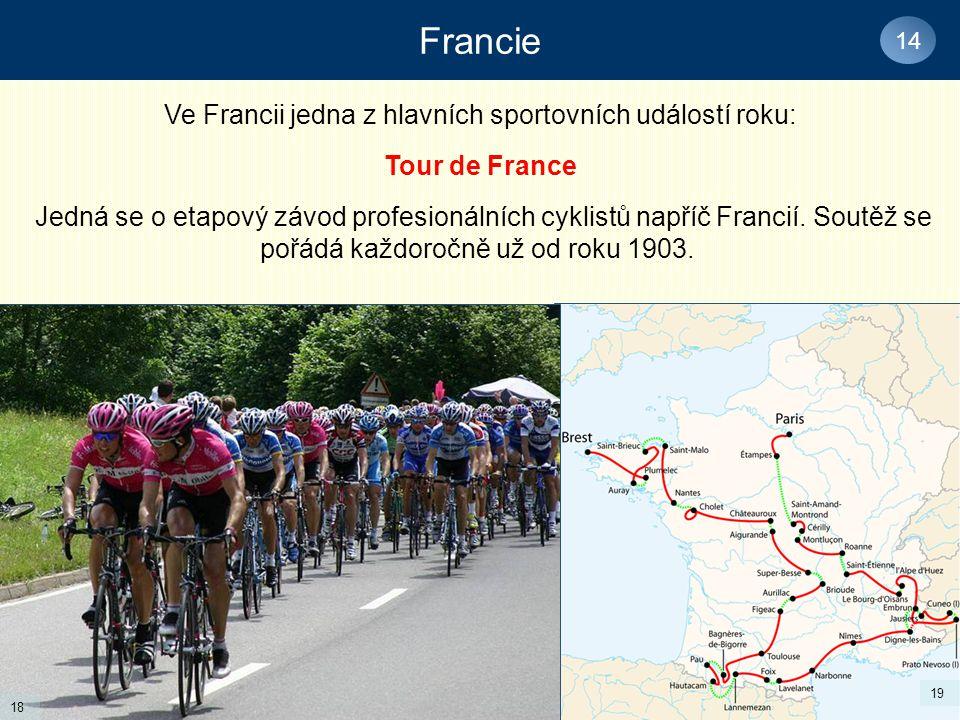 Ve Francii jedna z hlavních sportovních událostí roku: