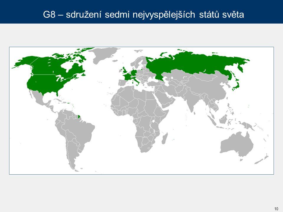 G8 – sdružení sedmi nejvyspělejších států světa