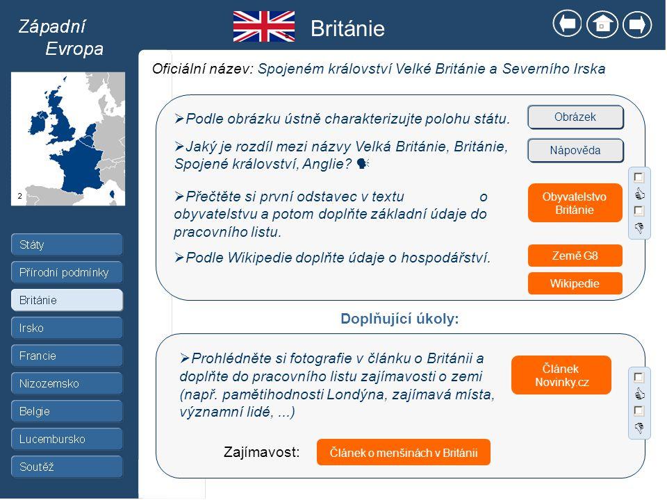Článek o menšinách v Británii