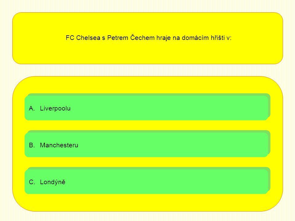 FC Chelsea s Petrem Čechem hraje na domácím hřišti v: