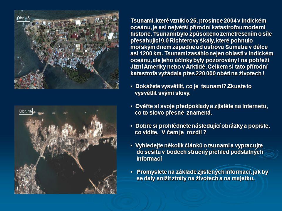 Dokážete vysvětlit, co je tsunami Zkuste to vysvětlit svými slovy.