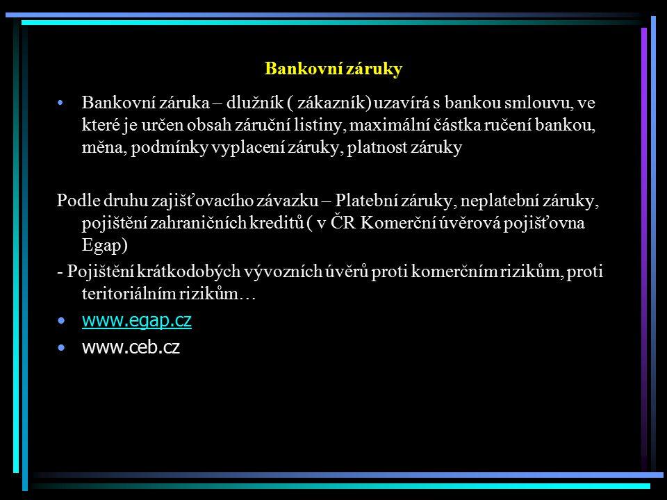 Bankovní záruky