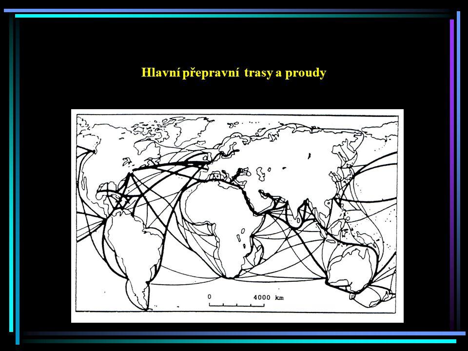 Hlavní přepravní trasy a proudy