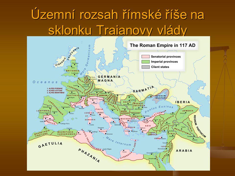Územní rozsah římské říše na sklonku Traianovy vlády