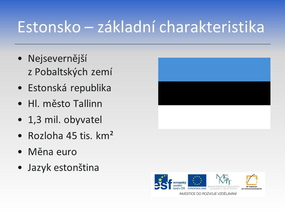 Estonsko – základní charakteristika