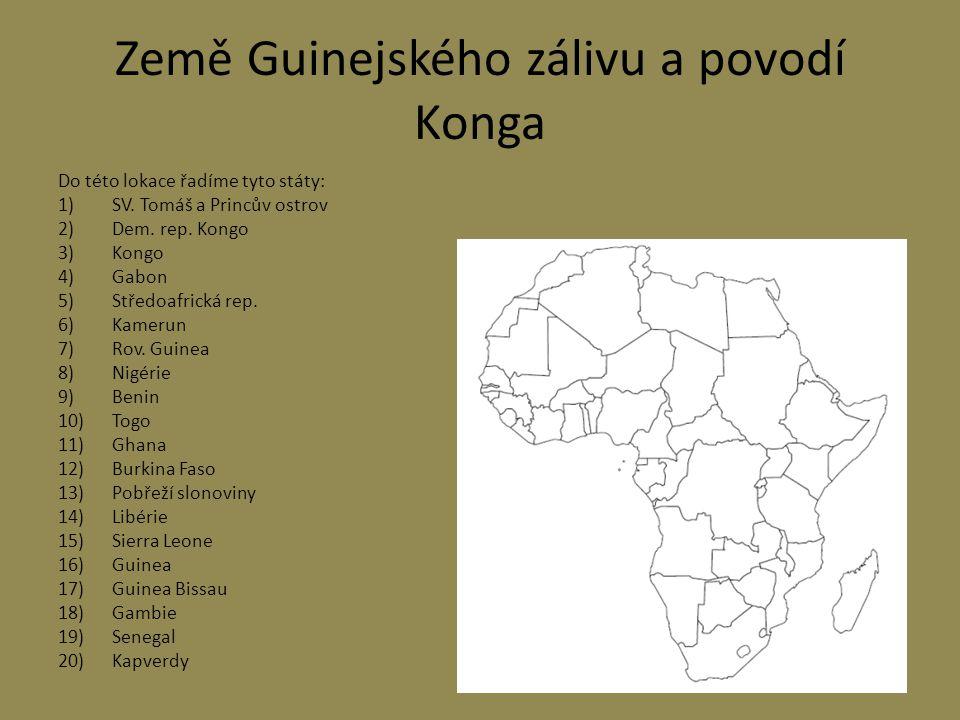 Země Guinejského zálivu a povodí Konga
