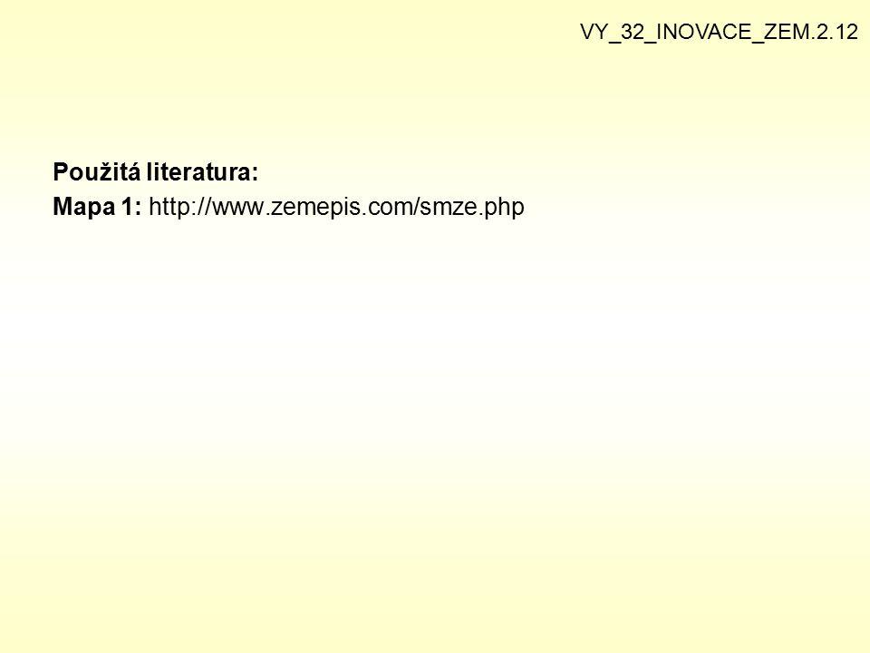 Mapa 1: http://www.zemepis.com/smze.php