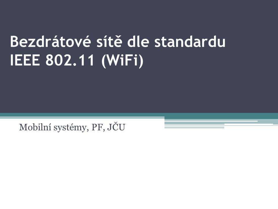 Bezdrátové sítě dle standardu IEEE 802.11 (WiFi)