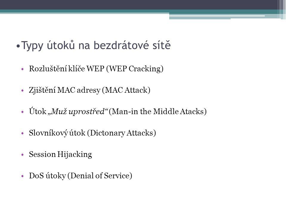 Typy útoků na bezdrátové sítě
