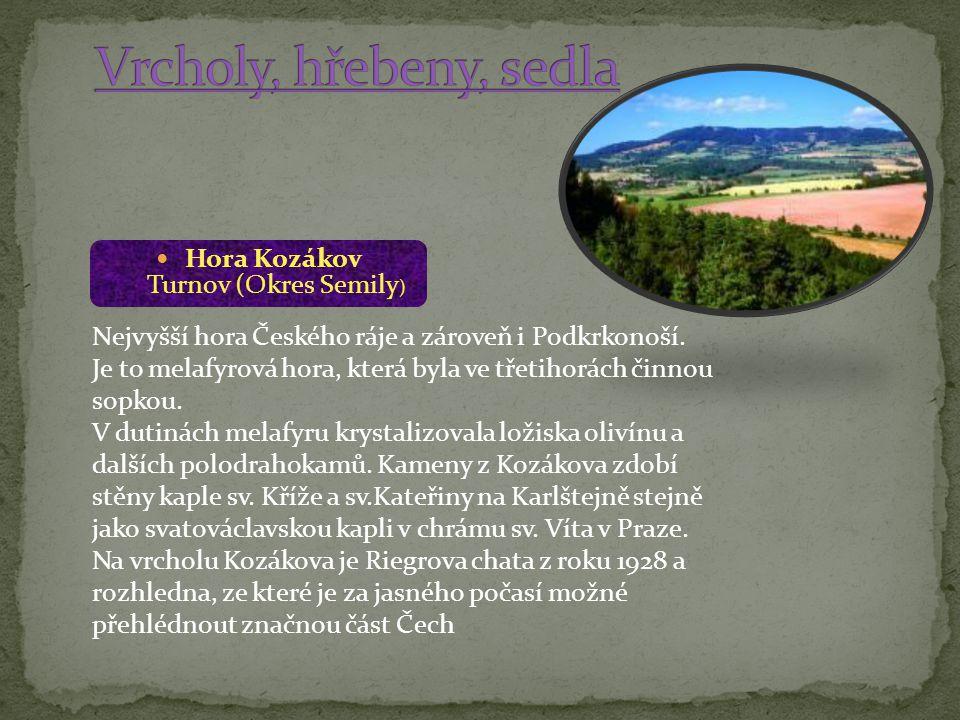 Hora Kozákov Turnov (Okres Semily)