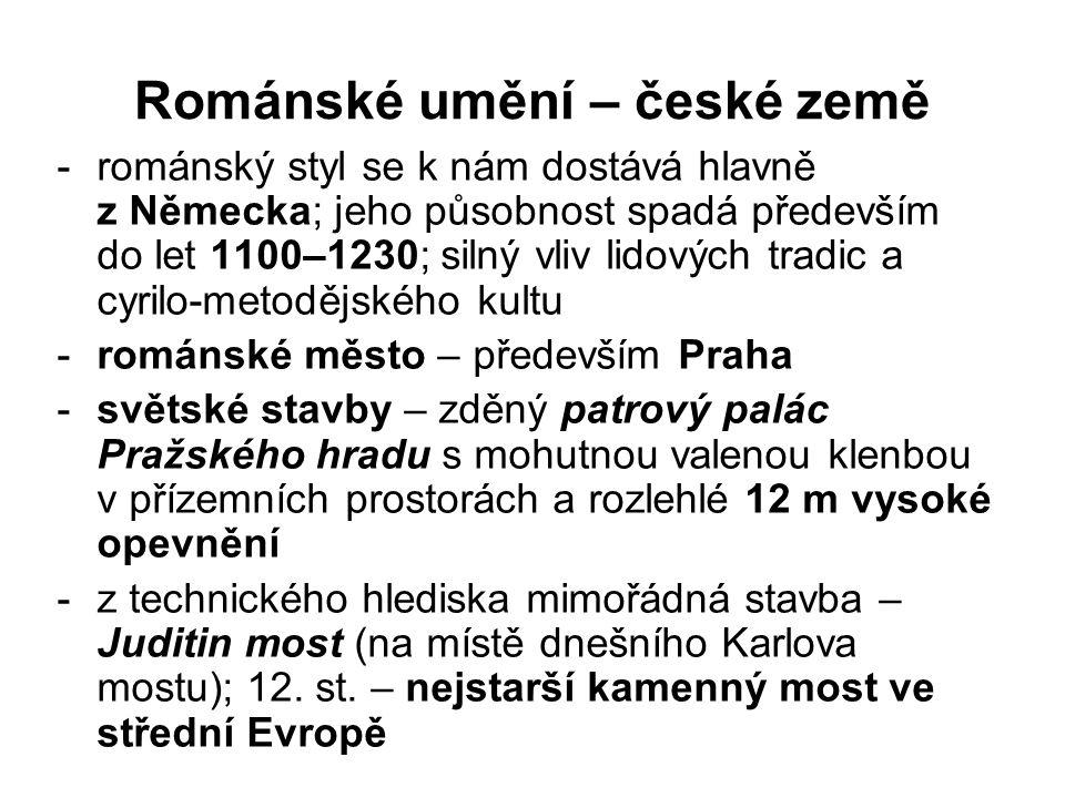 Románské umění – české země