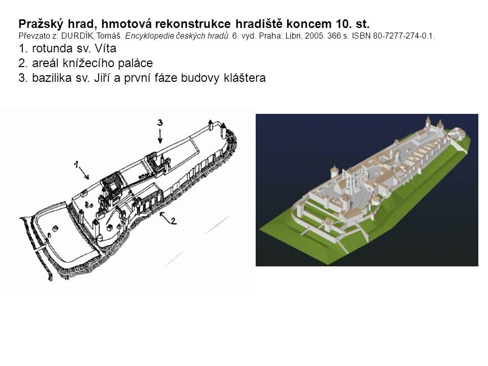 Pražský hrad, hmotová rekonstrukce hradiště koncem 10. st
