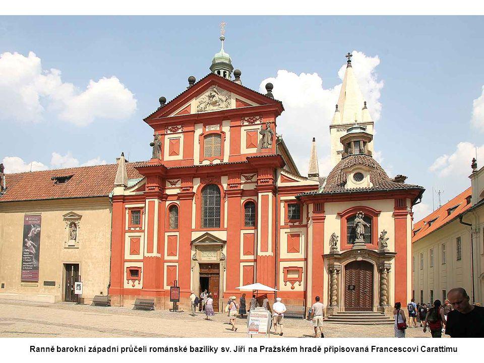 Ranně barokní západní průčelí románské baziliky sv