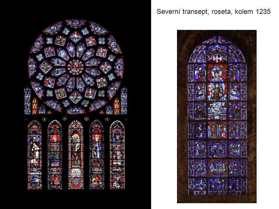 Severní transept, roseta, kolem 1235