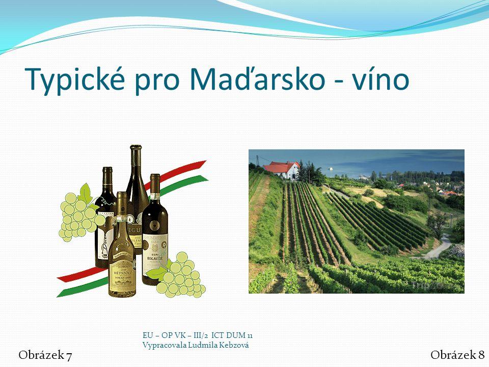 Typické pro Maďarsko - víno