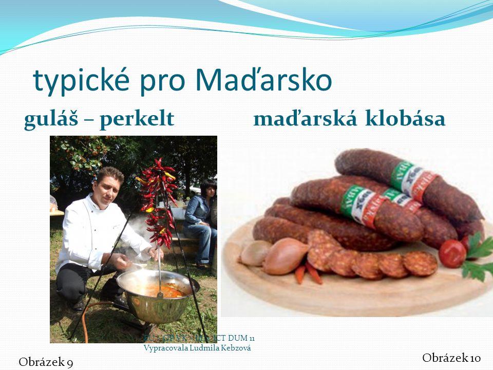 typické pro Maďarsko guláš – perkelt maďarská klobása Obrázek 10
