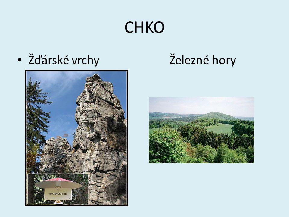 CHKO Žďárské vrchy Železné hory