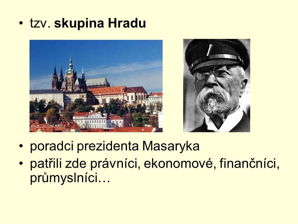 tzv. skupina Hradu poradci prezidenta Masaryka.