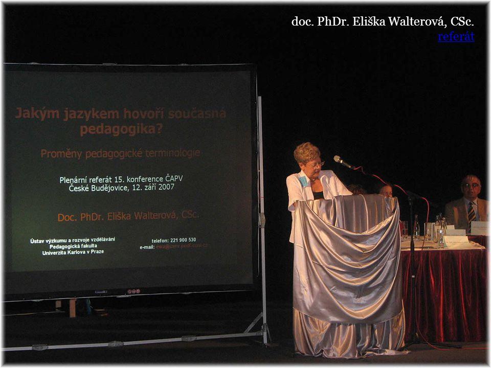 doc. PhDr. Eliška Walterová, CSc.