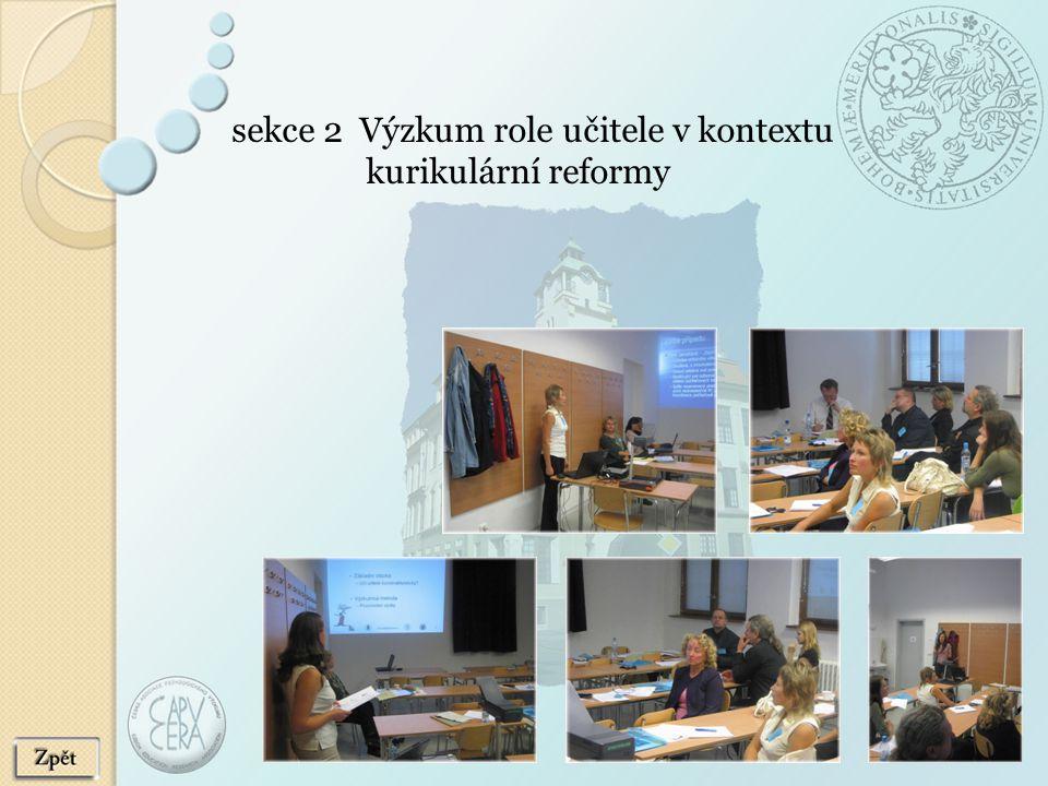 sekce 2 Výzkum role učitele v kontextu