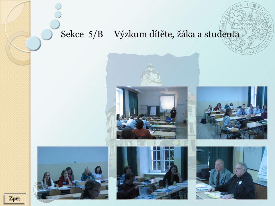 Sekce 5/B Výzkum dítěte, žáka a studenta