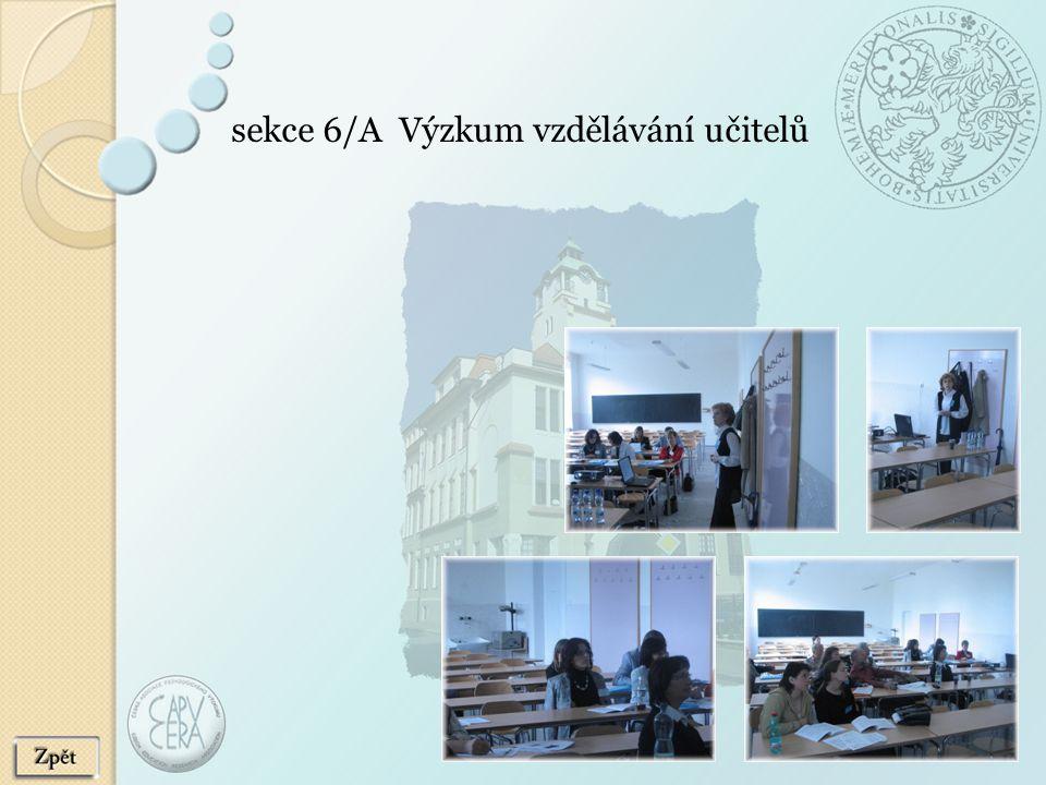 sekce 6/A Výzkum vzdělávání učitelů
