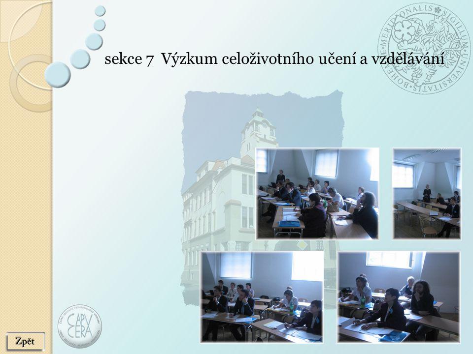 sekce 7 Výzkum celoživotního učení a vzdělávání