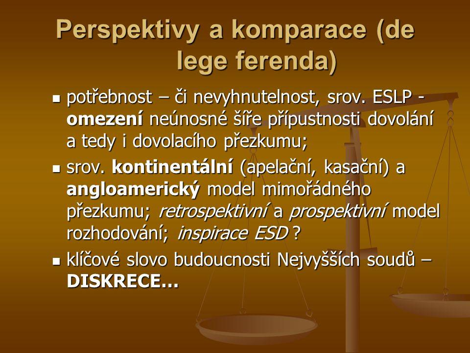 Perspektivy a komparace (de lege ferenda)